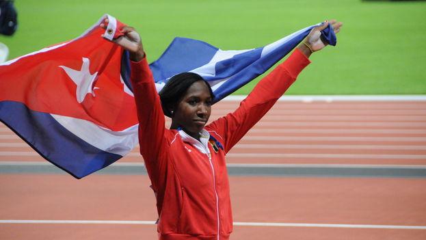 Yarisley Silva obtuvo una medalla de plata en los Juegos Olímpicos de Londres 2012. (CC)