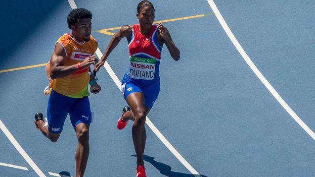 La corredora Omara Durand. (OIS/IOC/Bob Martin)