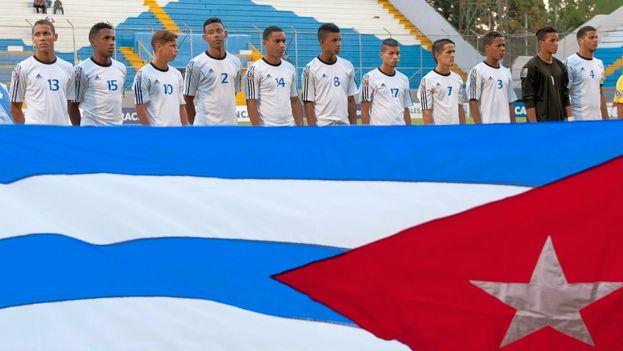El equipo cubano de fútbol Sub 17 (Foto: El Blog del fútbol cubano)