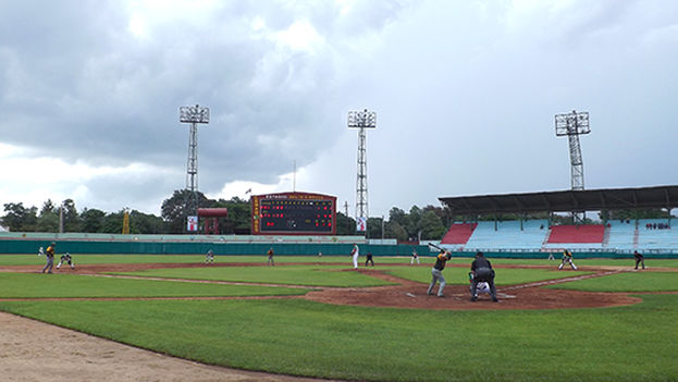 El estadio Julio Antonio Mella.