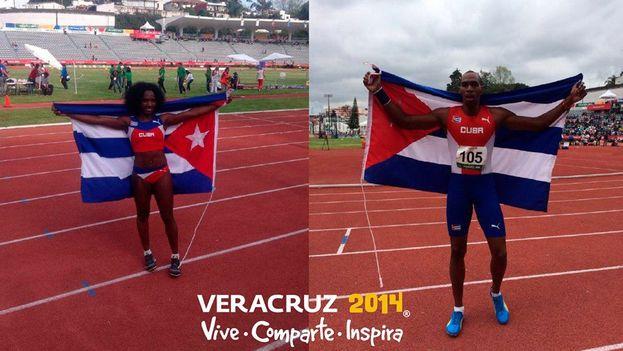 La organización de los juegos de Veracruz ha felicitado a Cuba por su victoria con esta imagen publicada en su página oficial de Facebook