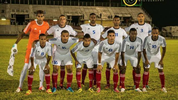 La selección cubana de fútbol.