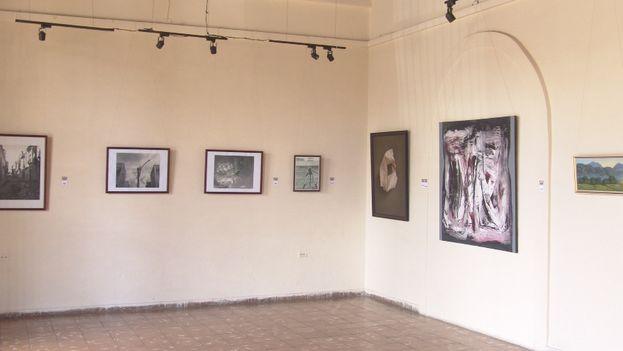 Galería del Joven Creador, en la sede de la Asociación Hermanos Saíz de Pinar del Río. (Juan Carlos Fernández/14ymedio)