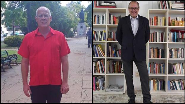 """Fernando Rojas (i), funcionario cultural de larga trayectoria y su hermano, el historiador Rafael Rojas (d) que se ha pronunciado sobre los procesos judiciales """"irregulares"""" a artistas.(Collage)"""