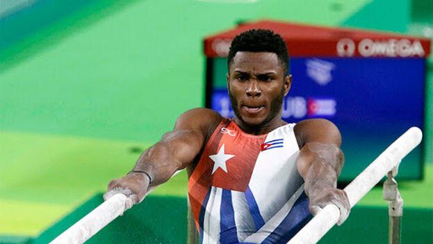 El gimnasta Manrique Larduet Bicet en el Campeonato Panamericano de San Juan de Puerto Rico en 2013 ganó dos oros. (JIT)