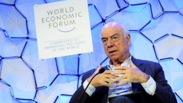 El presidente del BBVA, Francisco González, durante el Foro de Davos. (@bbva)