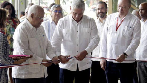 Díaz-Canel inauguró este lunes la 36 edición de la Feria internacional de La Habana (Fihav). (EFE)