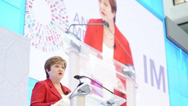 Georgieva dijo que las tensiones comerciales están repercutiendo negativamente en la economía. (FMI)