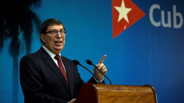 El ministro de Relaciones Exteriores de Cuba, Bruno Rodríguez. (EFE/ Yamil Lage/POOL)