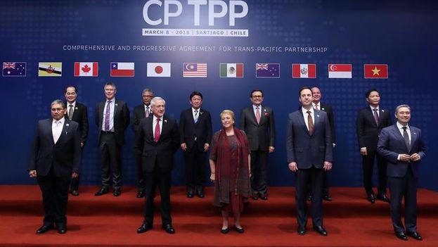 El nuevo tratado conserva la esencia del TPP original pero fueron suspendidos una veintena de puntos para resguardar los balances entre los países firmantes. (EFE)