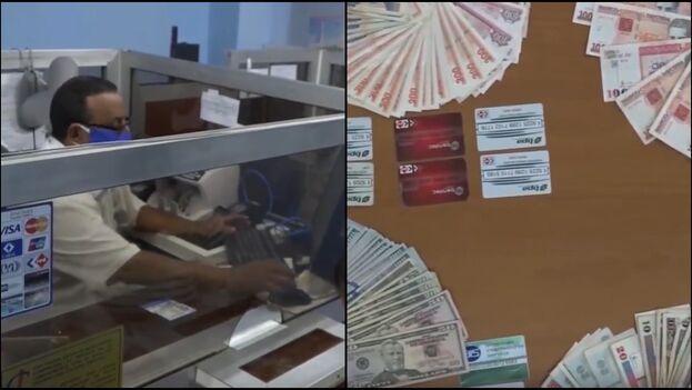 Uno de los acusados admitió que se dedicaba al cambio de CUC y dólares, ambas monedas con una tasa de cambio propia, 1 CUC por 24.20 pesos cubanos. (Collage/Capturas)
