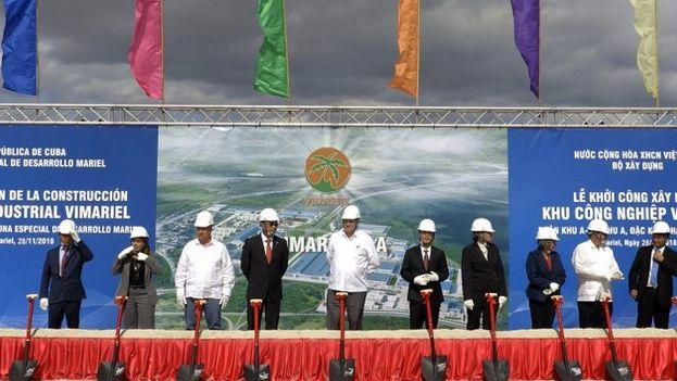 El inicio de la construcción se proclamó mediante una ceremonia a la que acudieron altas autoridades de ambos países.