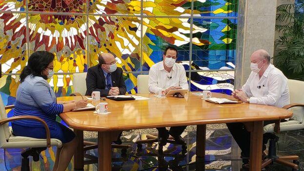 Los funcionarios abordaron la situación sanitaria, pero también la económica, para la que se avecina lo peor. (Presidencia Cuba)