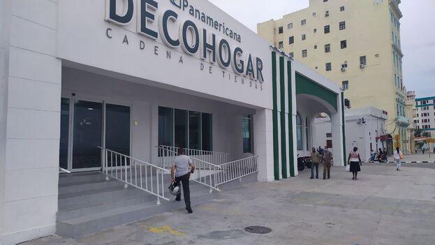 Una de las tiendas listadas como ferreterías de venta en divisas que tampoco ofrece materiales de construcción. (14ymedio)
