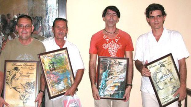 De izquierda a derecha: Pedro Llanes, Luis Machado, Aramís Pérez de Alejo y Néstor Núñez. (Verbiclara)