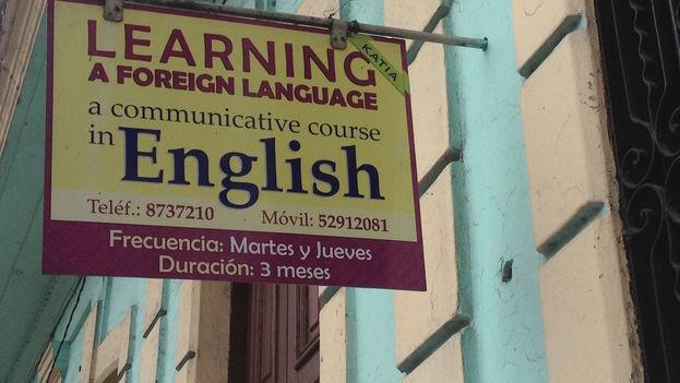 Private English classes in Cuba (14ymedio)