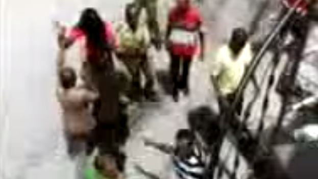 UNPACU activists being arrested. Screen shot from Youtube.