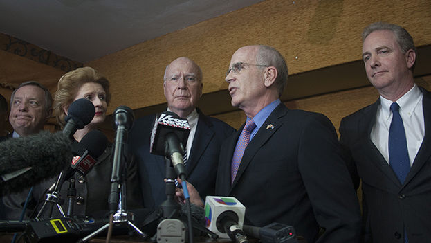 US members of Congress at a press conference in Havana (Luz Escobar)