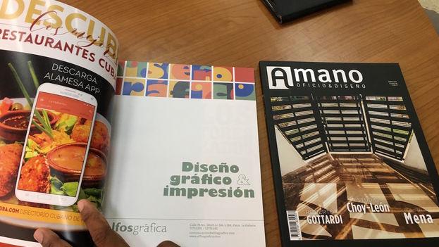 Portadas de la revista Amano, que tiene también versión digital. (14ymedio)