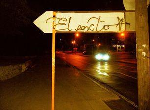Firma de El Sexto en una señal de tránsito. (14ymedio)