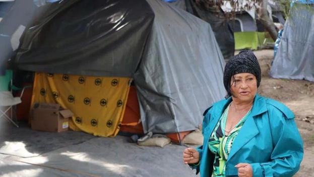 Onelia Alonso en un albergue el 16 de diciembre de 2020, en la ciudad de Matamoros, en el estado de Tamaulipas. (EFE/ Abraham Pineda/ Archivo)