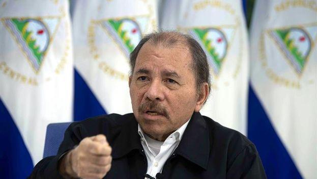 El presidente de Nicaragua, Daniel Ortega, sostiene que sigue siendo marxista, defiende el sandinismo y critica con dureza a algunos de los que compartieron con él la revolución. (EFE/ Jorge Torres)