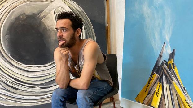 """""""Mi interés por el arte fue desde pequeño, fue con un personaje súper pintoresco que vivía en mi barrio, exactamente en la misma cuadra en la que yo"""", confesó Nelson Jalil. (14ymedio)"""
