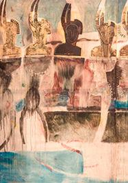 Levitación del artista Moisés Finalé.
