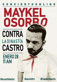 Cartel del concierto de Maykel Osorbo para presentar su disco 'Contra la dinastía Castro'