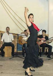 Tablao flamenco en el mesón de la flota.