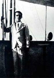 Lorca en el barco de regreso a España, en La Habana, 1930. (Archivo)