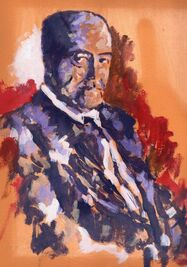 Primer retrato de Gastón Baquero, de Miguel Elías.