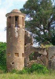Ruina del cafetal Angerona que da nombre a la galería.