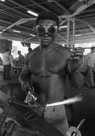 El soldador, fotografía de Iván Cañas