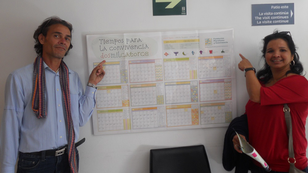 El periodista Juan Carlos Fernández y la economista Karina Gálvez Chiú. (Fuente: Facebook)