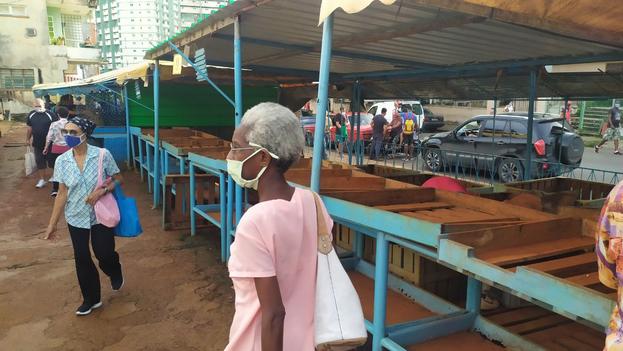 Mercado del EJT de la calle 17, en La Habana, estos días pasados. (14ymedio)