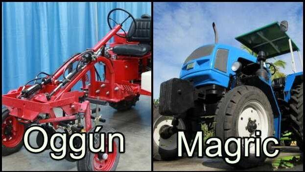 El tractor Oggún fue excluido por Cuba hace dos años, ahora el Gobierno promueve el Magric. (Collage)