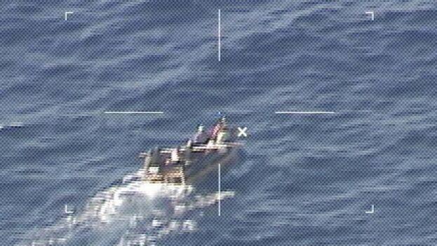 Los migrantes fueron interceptados a unas 54 millas al suroeste de los Cayos Marquesas. (USCG)