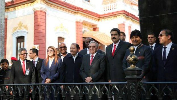 La reunión del ALBA habló poco de las elecciones, contra lo previsto, y mucho de la exclusión de Venezuela de la Cumbre de las Américas. (@CancilleriaVE)