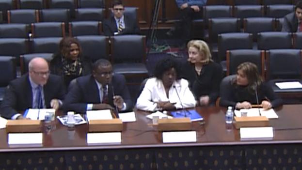Activistas cubanos en audiencia del Congreso de EE UU (Fotograma)