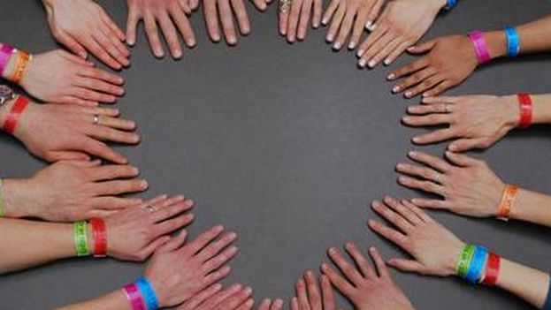 Acto a favor de los derechos sexuales y reproductivos de las mujeres. Amnistía Internacional Suiza. 2004. ©AI