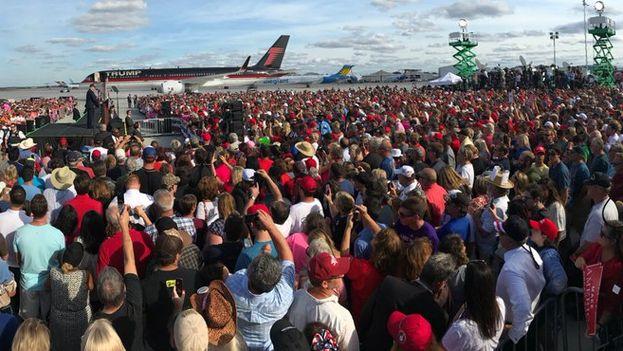Acto con Donald Trump en Florida este martes. (@realDonaldTrump)