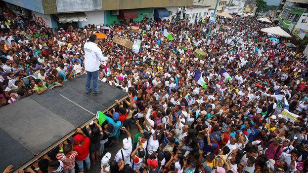 Acto de campaña de Javier Bertucci en Yaracuy este domingo. (@JAVIERBERTUCCI)