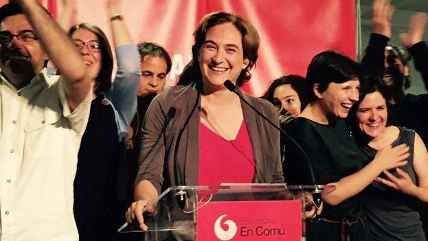 Ada Colau será probablemente alcaldesa de Barcelona tras la victoria de la agrupación ciudadana Barcelona en Comú. (@bcnencomu)