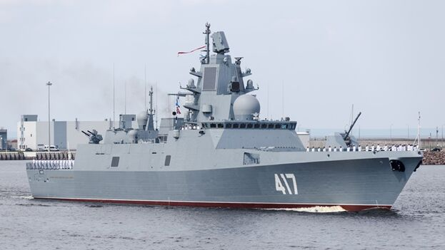 El 'Admiral Gorshkov' visita Cuba 6 años después de la llegada del último buque ruso a la Isla. (IISS)