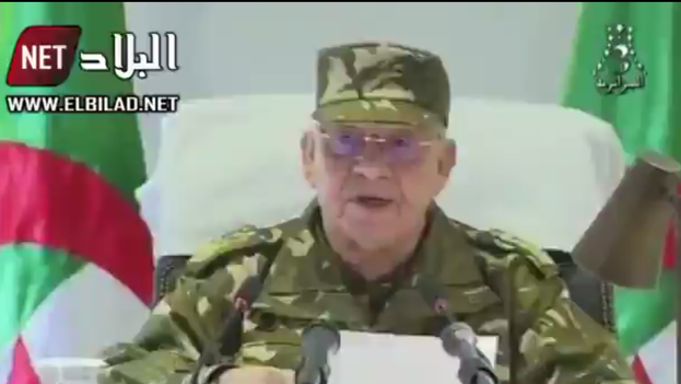 El general Ahmed Gaïd Salah pidió la inhabilitación del presidente argelino. (captura)