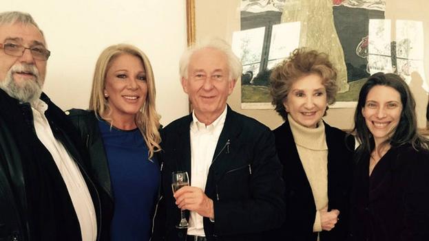Albert Boadella en la embajada española en Argentina por el estreno de 'El pimiento Verdi'. (Instagram)