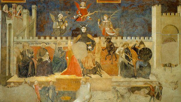 Alegoría del Mal Gobierno. (Pietro y Ambrosio Lorenzetti)