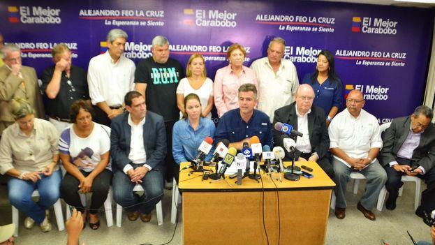 Alejandro Feo La Cruz dijo admitir su derrota e intentar forzar a su contrincante chavista a cumplir sus compromisos. (@afeolacruz)