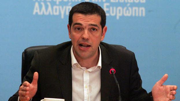 Alexis Tsipras, lider de la coalición izquierdista Syriza